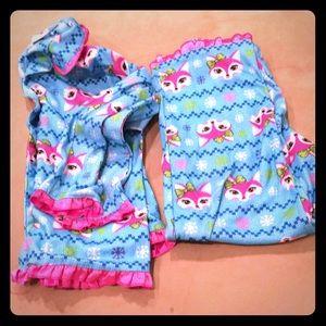 Other - Super cute girl's fox pajama set! EUC size 7/8
